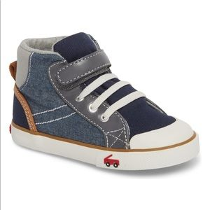 Gently used See Kai Run high tops size 4